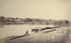 Bridge of boats across the Jumna at Muttra.